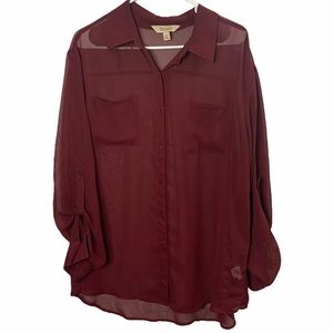 Decree Clothing Long Sleeve Button Down Blouse